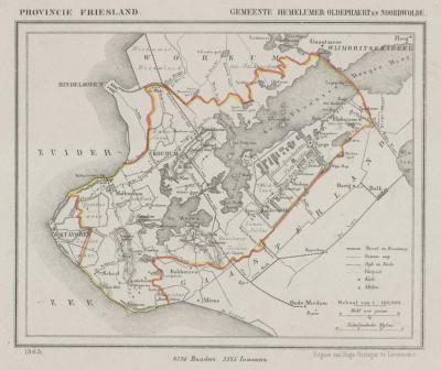 Gemeente Hemelumer Oldephaert en Noordwolde/Hemelumer Oldeferd anno ca. 1870, kaart J. Kuijper (collectie www.atlasenkaart.nl)