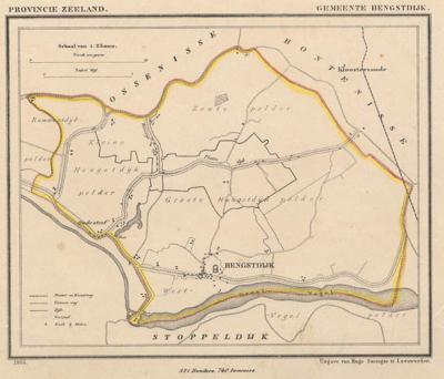 Gemeente Hengstdijk anno ca. 1870, kaart J. Kuijper (collectie www.atlasenkaart.nl)