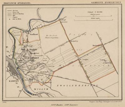 Gemeente IJsselmuiden anno ca. 1870, kaart J. Kuijper (collectie www.atlasenkaart.nl)