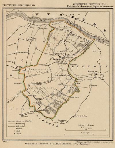 Gezien deze kaart is er, vermoedelijk van 1812-1817, sprake geweest van een gemeente Ingen en Ommeren. In onze bronnen kunnen wij daarover echter niets vinden. Wie weet hier meer van?