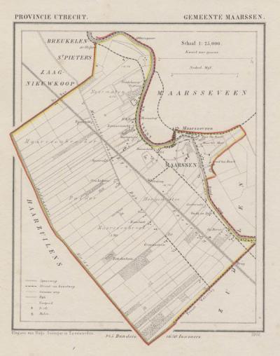 Gemeente Maarssen anno ca. 1870, kaart J. Kuijper (© www.atlasenkaart.nl)