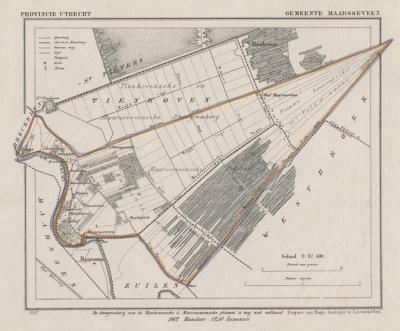 Gemeente Maarsseveen anno ca. 1870, kaart J. Kuijper (© www.atlasenkaart.nl)