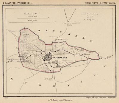 Gemeente Ootmarsum anno ca. 1870, kaart J. Kuijper (collectie www.atlasenkaart.nl)