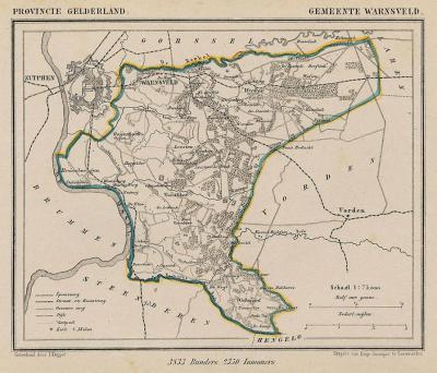 Gemeente Warnsveld anno ca. 1870, kaart J. Kuijper (collectie www.atlasenkaart.nl)