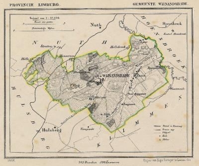 Gemeente Wijnandsrade anno ca. 1870, kaart J. Kuijper (collectie www.atlasenkaart.nl)