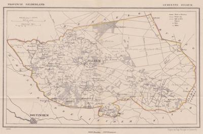 Gemeente Zelhem anno ca. 1870, kaart J. Kuijper