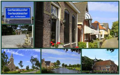 Gerkesklooster, collage van dorpsgezichten (© Jan Dijkstra, Houten)