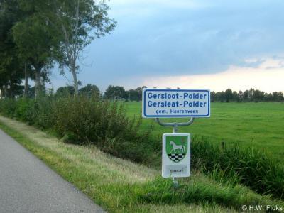De plaatsnaamborden van Gersloot-Polder zijn op 24 september 2013 feestelijk onthuld door het college van Burgemeester en Wethouders van de gemeente Heerenveen.