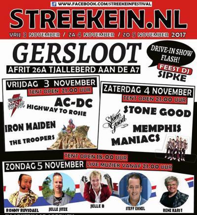 In een weekend begin november is het altijd 'iets' minder rustig dan gebruikelijk in het dorpje Gersloot bij Heerenveen. Dan is er namelijk 3 avonden lang het Streekein Festival. (© Renske Dijkstra)