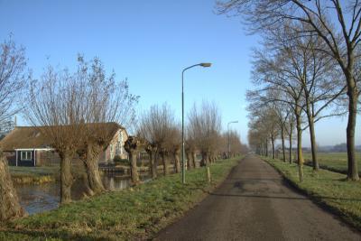Opvallend in Gerverscop is dat bijna alle boerderijen N van de vliet zijn gelegen. Z ervan is bijna geen bebouwing. De boerderijen hebben allemaal een eigen bruggetje over de vliet. (© Jan Dijkstra, Houten)