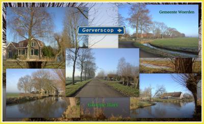 Gerverscop, collage van buurtschapsgezichten. (© Jan Dijkstra, Houten)