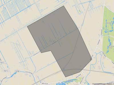 De gemeente Gerverscop zoals die van 1818 tot 1857 bestaan heeft.