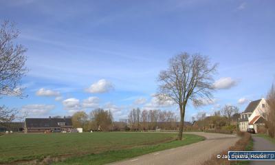Buurtschap Gieltjesdorp, gelegen rond de gelijknamige weg tussen Haarzuilens en de spoorwegovergang