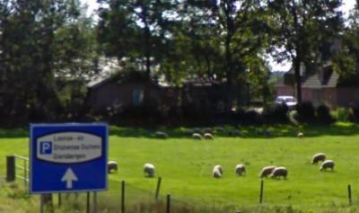Vanuit Drunen staat er wel een richtingbord naar de buurtschap Giersbergen, maar ter plekke staan geen plaatsnaambordjes, zodat je niet kunt zien wanneer je er bent aangekomen. Da's dan weer minder handig... (© Google)