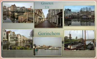 Gorinchem is in de loop der jaren flink uitgebreid, maar gelukkig zijn veel oude panden in het centrum wel bewaard gebleven, evenals een aantal molens. En ook het water is op veel plekken nadrukkelijk aanwezig. (© Jan Dijkstra, Houten)