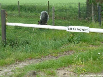 En ook landgoed Gorp en Roovert wordt op de toegangspaden keurig met bordjes aangeven.