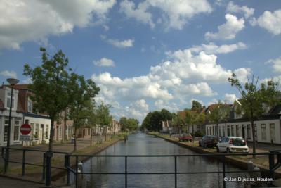 Gorredijk 2014, met een blik op de Langewal links en de Brouwerswal rechts
