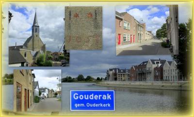 Gouderak, collage van dorpsgezichten (© Jan Dijkstra, Houten)