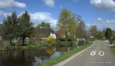 60 km per uur is natuurlijk veel te snel om te genieten van het mooie landschap bij Goudriaan...