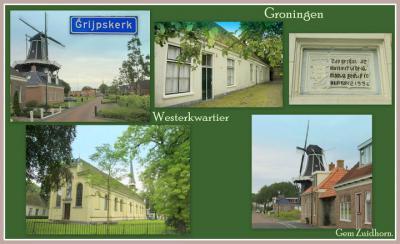 Grijpskerk, collage van dorpsgezichten (© Jan Dijkstra, Houten)
