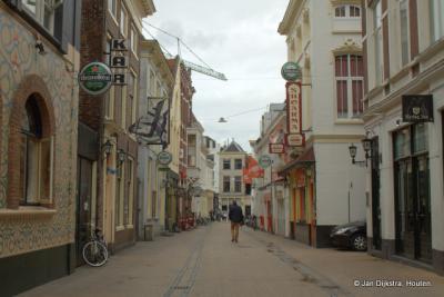 Het is rustig in de Peperstraat in Groningen