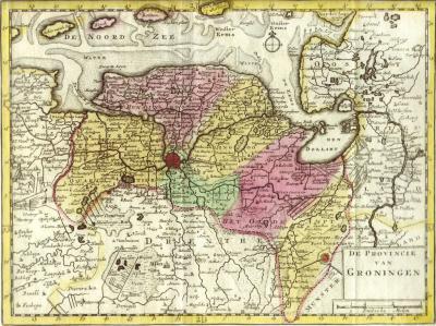 De regionale indeling van de provincie Groningen anno 1753 komt toevallig (?) grotendeels overeen met de voorgestelde gemeentelijke indeling van Groningen per uiterlijk 2018.