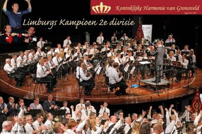 De in 1835 opgerichte Koninklijke Harmonie van Gronsveld speelt op hoog niveau. Zo is zij in 2014 Limburgs kampioen geworden in de 2e divisie.