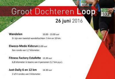 De Groot Dochteren Loop (op een zondag eind juni) omvat zowel hardloopwedstrijden als wandeltochten, waarbij je kunt kiezen uit verschillende afstanden.