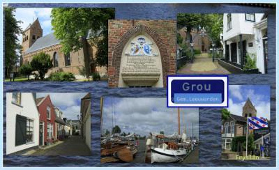 Grou, collage van dorpsgezichten (© Jan Dijkstra, Houten)