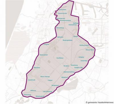 En zo ziet de gemeente Haarlemmermeer eruit vanaf 2019, na de fusie met de gemeente Haarlemmerliede en Spaarnwoude.