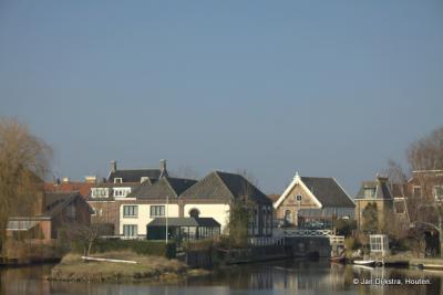 Haastrecht, dorpsgezicht, met o.a. Gemaal De Hooge Boezem achter Haastrecht