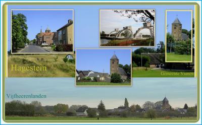 Hagestein, collage van dorpsgezichten (© Jan Dijkstra, Houten)