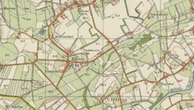 Op een kaart van rond 1970 zien we plaatsnaam Haler naar het inmiddels rond de kerk gegroeide dorpje verhuizen. Het zou logischer zijn geweest om het dorp Haler-Uffelse te noemen. De inwoners vinden dat ook en doen dat dan ook, bijv. op de lokale websites