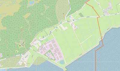 Buurtschap Halfweg ligt in het uiterste O van het dorpsgebied van West-Terschelling, NO van buurtschap Dellewal, NO van de splitsing Burgemeester van Heusdenweg/Hoofdweg/Nieuwe Dijk. (© www.openstreetmap.org)