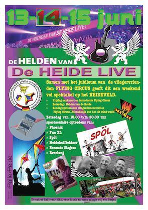 Halle-Heide, popfestival Helden van de Heide was er in 2014 voor de 2e keer, maar wordt voor zover wij hebben begrepen niet ieder jaar georganiseerd.