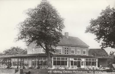 Oude ansichtkaart van Hotel Café Hancate