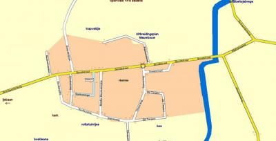 Plattegrond van het dorp Hantum