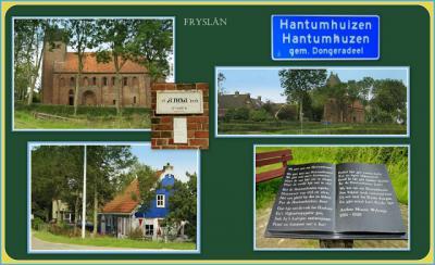 Hantumhuizen, collage van dorpsgezichten (© Jan Dijkstra, Houten)