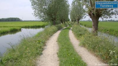 De Giessendamse Tiendweg in Hardinxveld-Giessendam is een bijna 3 km lang mooi wandelpad langs een sloot, tussen de Zwijnskade in het W en de Molenweg in het O. Het pad leidt je naar de Tiendwegse Molen.