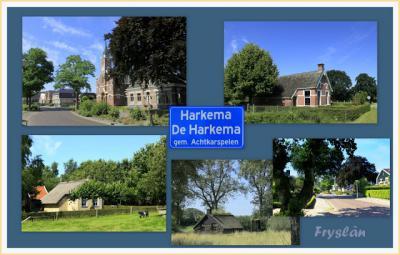 Harkema, collage van dorpsgezichten (© Jan Dijkstra, Houten)