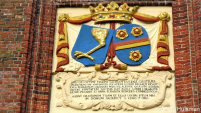 Harkstede, Protestantse kerk, wapens van het echtpaar Piccardt-Rengers