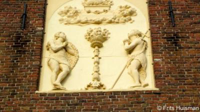 Harkstede, Protestantse kerk, offertafereel met Elia en Johannes de Doper