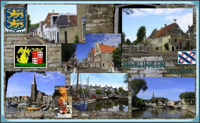 Harlingen, collage van stadsgezichten (© Jan Dijkstra, Houten)