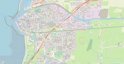 Actuele kaart van de stad Harlingen. (© openstreetmap.org)