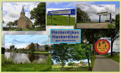 Haskerdijken, collage van dorpsgezichten (© Jan Dijkstra, Houten)
