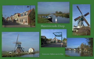 Hazerswoude-Dorp, collage dorpsgezichten (© Jan Dijkstra, Houten)