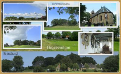 Hegebeintum, collage van dorpsgezichten (© Jan Dijkstra, Houten)