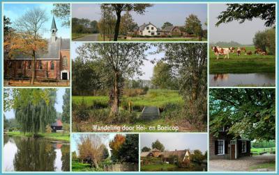 Hei- en Boeicop, collage van dorpsgezichten anno nu (© Jan Dijkstra, Houten)