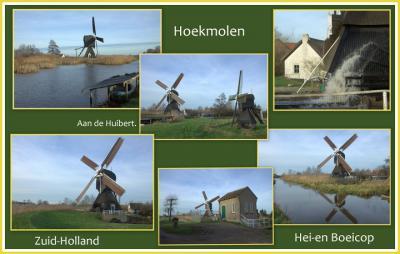 Hei- en Boeicop, de Hoekmolen, die het water van de Huibert uitslaat op het Merwedekanaal (© Jan Dijkstra, Houten)