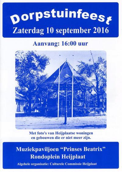 De Culturele Commissie Heijplaat organiseert door het jaar heen diverse evenementen in he dorp, waaronder het Dorpstuinfeest op een zaterdag in september.